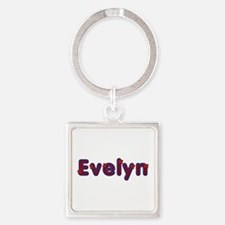 Evelyn Red Caps Square Keychain