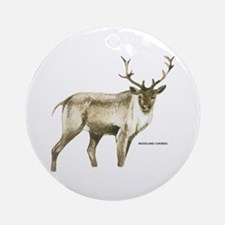 Woodland Caribou Animal Ornament (Round)