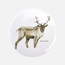 "Woodland Caribou Animal 3.5"" Button"