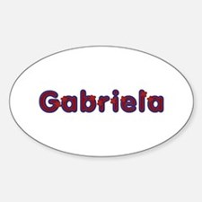Gabriela Red Caps Oval Decal