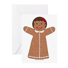 Gingerbread Girl Basic Cards (Pk of 10)