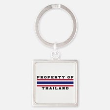 Property Of Thailand Square Keychain