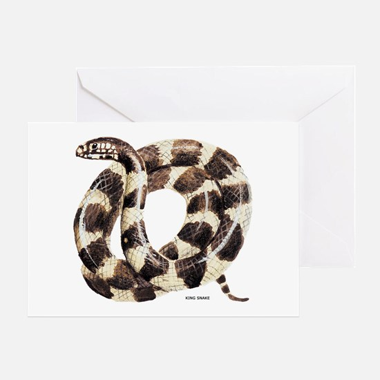 King Snake Greeting Card