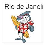 Rio de Janeiro Square Car Magnet 3
