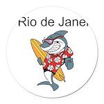 Rio de Janeiro Round Car Magnet