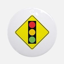 Signal Ahead Ornament (Round)