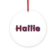 Hallie Red Caps Round Ornament