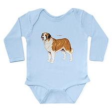 St. Bernard Dog Long Sleeve Infant Bodysuit