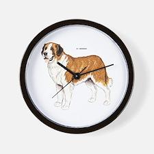 St. Bernard Dog Wall Clock