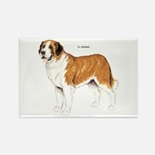 St. Bernard Dog Rectangle Magnet