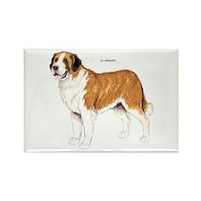 St. Bernard Dog Rectangle Magnet (100 pack)