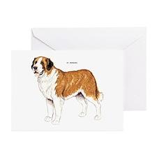 St. Bernard Dog Greeting Cards (Pk of 10)