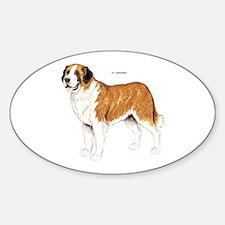 St. Bernard Dog Sticker (Oval)