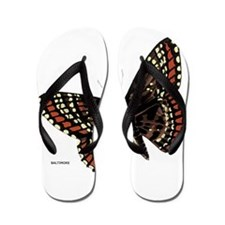 Baltimore Butterfly Flip Flops