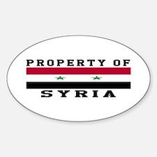 Property Of Syria Sticker (Oval)