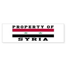 Property Of Syria Bumper Sticker