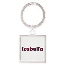 Izabella Red Caps Square Keychain