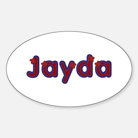 Jayda Red Caps Oval Decal