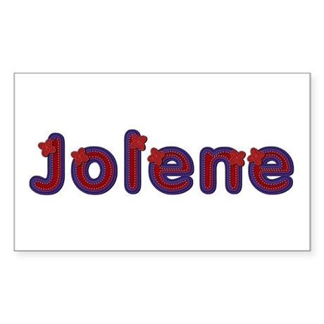 Jolene Red Caps Rectangle Sticker