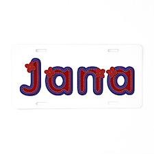 Jana Red Caps Aluminum License Plate