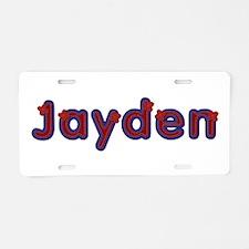 Jayden Red Caps Aluminum License Plate
