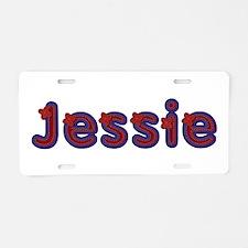 Jessie Red Caps Aluminum License Plate