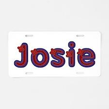 Josie Red Caps Aluminum License Plate