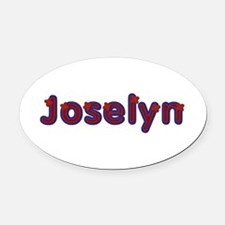 Joselyn Red Caps Oval Car Magnet