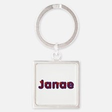 Janae Red Caps Square Keychain
