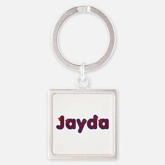 Jayda Red Caps Square Keychain