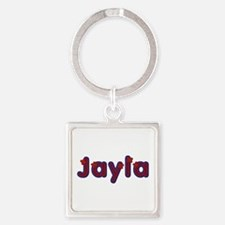 Jayla Red Caps Square Keychain