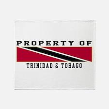 Property Of Trinidad & Tobago Throw Blanket