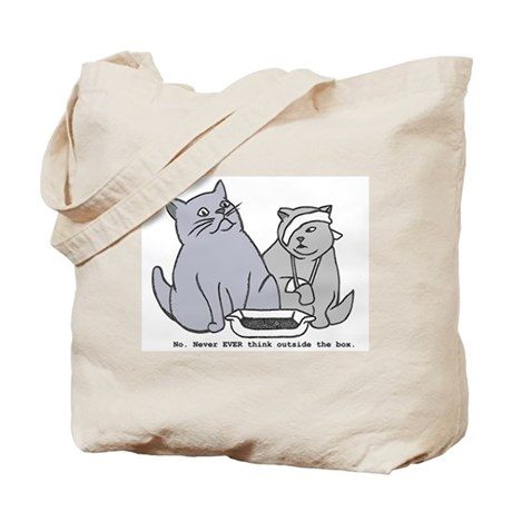 Never think outside the box Tote Bag