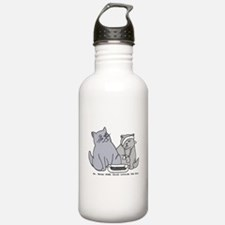 Never think outside the box Water Bottle