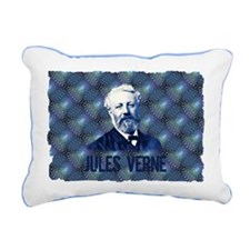 Jules Verne in Blue Rectangular Canvas Pillow