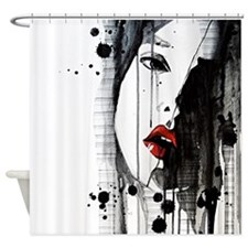 Sexy Woman Watercolor Painting Shower Curtain