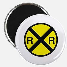"Railroad Crossing 2.25"" Magnet (10 pack)"