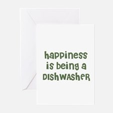 Happiness is being a DISHWASH Greeting Cards (Pack