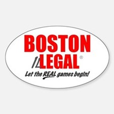 Boston Illegal Oval Bumper Stickers