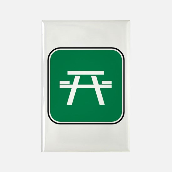 Picnic Table Rectangle Magnet (100 pack)