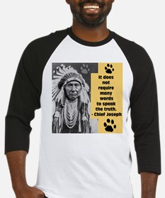 Chief Joseph Quote Baseball Jersey