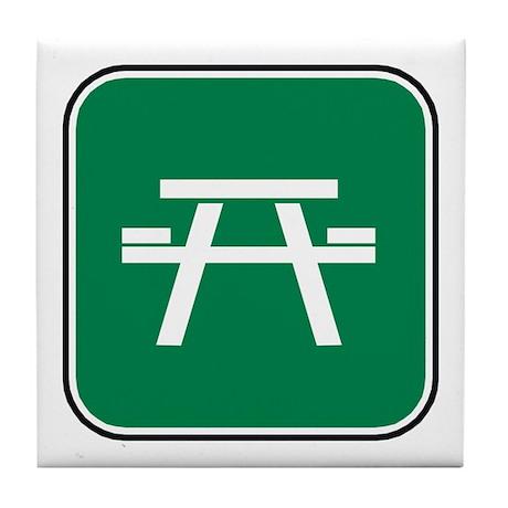 Picnic Table Tile Coaster