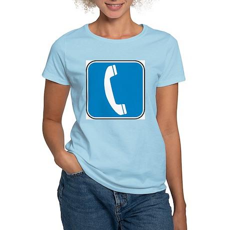 Telephone Women's Pink T-Shirt