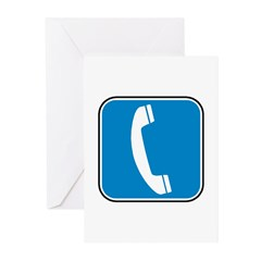 Telephone Greeting Cards (Pk of 10)