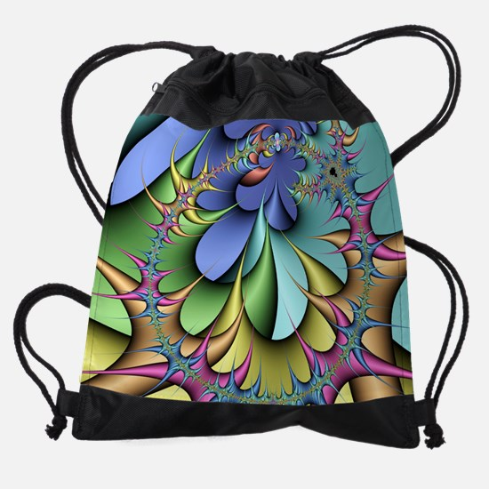 Julia fractal Drawstring Bag