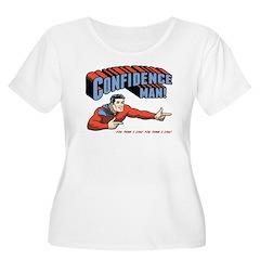 Confidence Man! Women's Plus Size Scoop Neck T-Shi