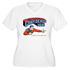 Confidence Man! Women's Plus Size V-Neck T-Shirt