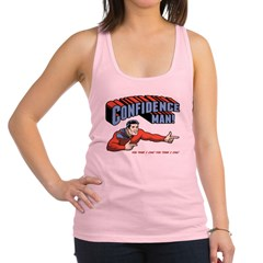 Confidence Man! Racerback Tank Top