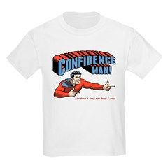 Confidence Man! Kids Light T-Shirt