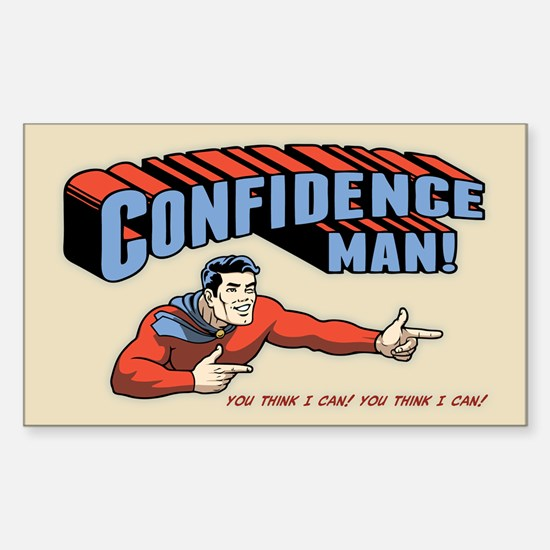Confidence Man! Sticker (Rectangle)